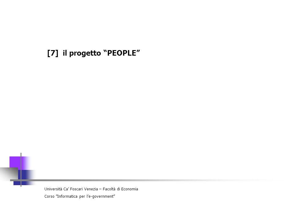 [7] il progetto PEOPLE